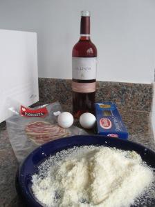 Algunos ingredientes y el vino