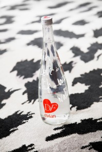 Bottle with pattern background