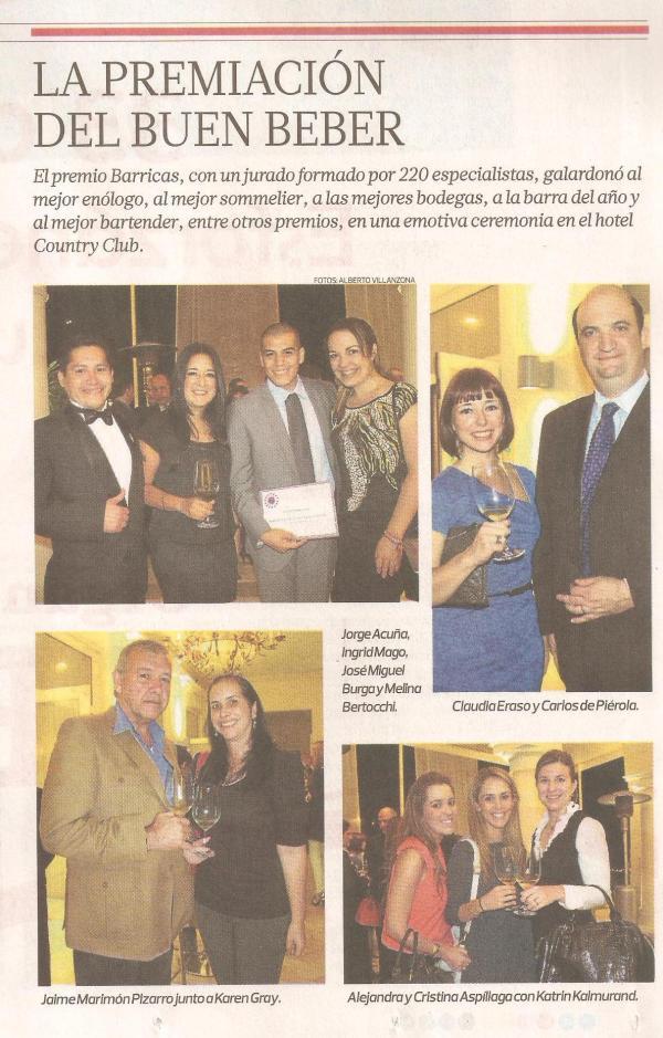 Los Premios Barricas.com en El Comercio